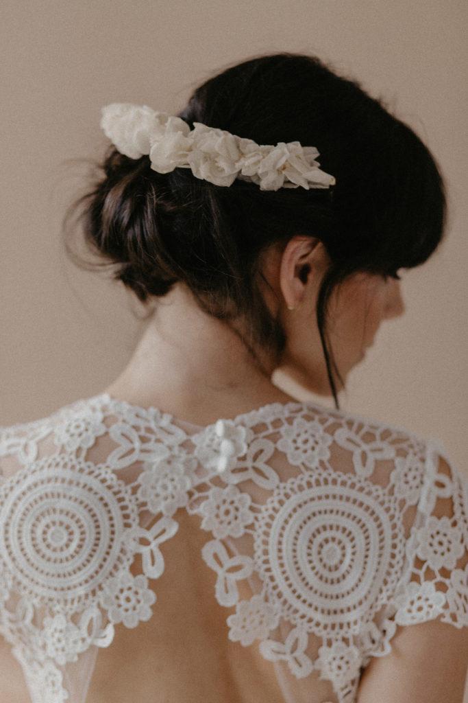 Demie couronne fleurie