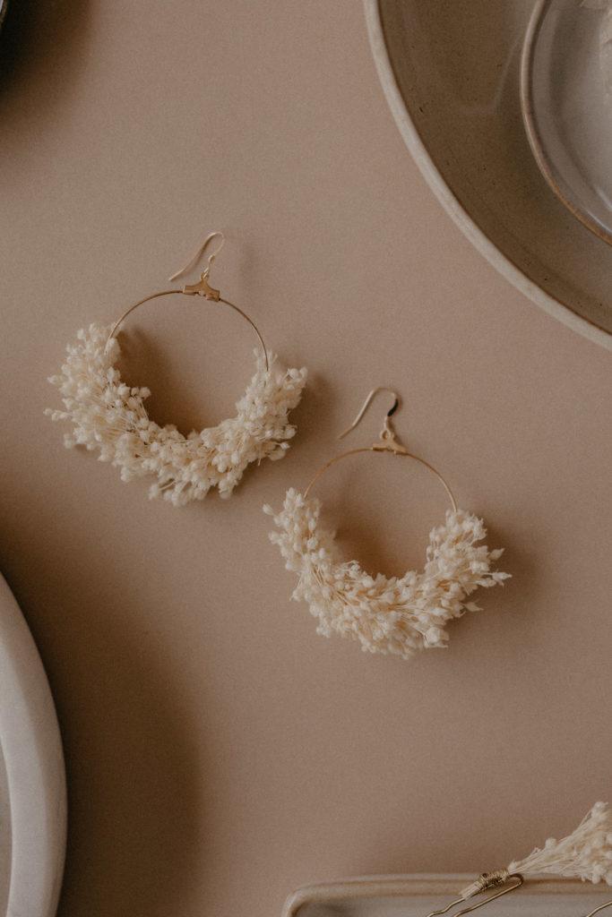Boucles d'oreille fleuries